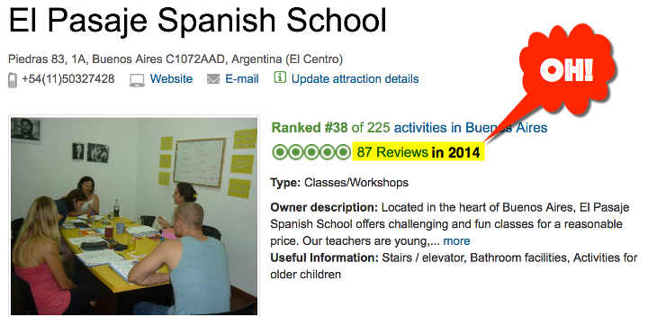 87 Reviews of El Pasaje Spanish School