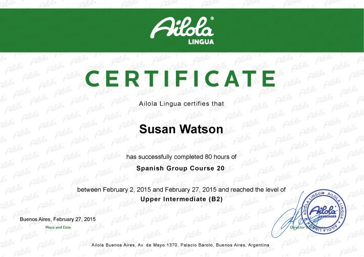 Ailola Certificate