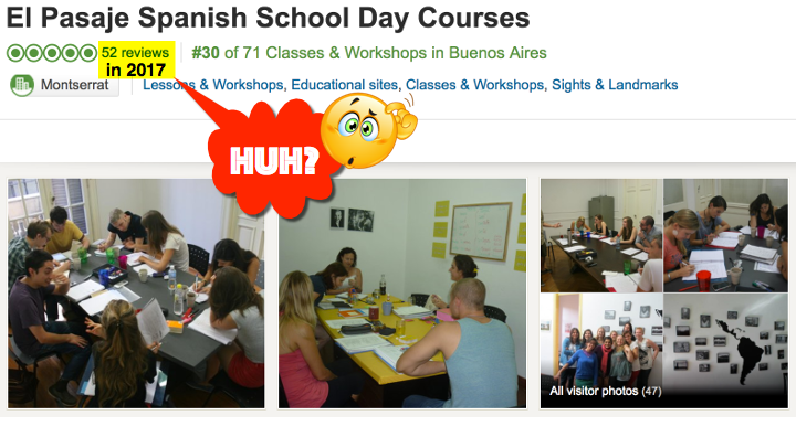 52 Reviews of El Pasaje Spanish School